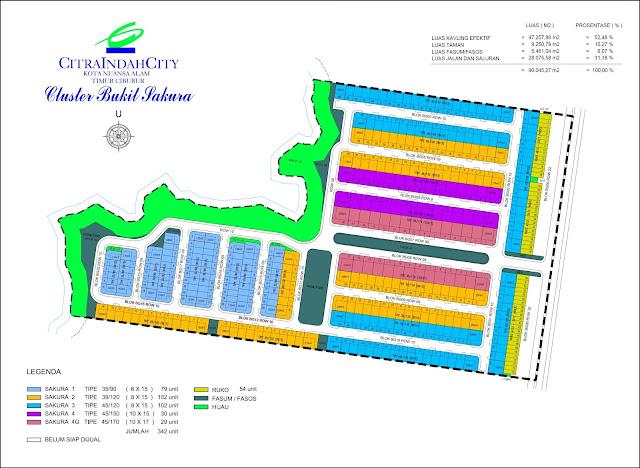 Siteplan Bukit SAKURA Citra Indah City