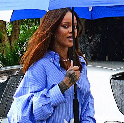 Is the outfit Rihanna wore to her Grandfather's Funeral Proper?