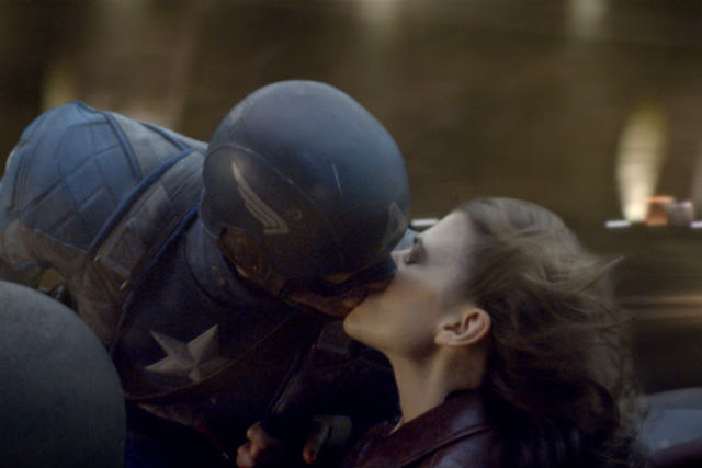 Captain America First Avenger Peggy and Steve Kiss