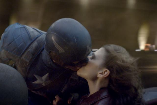 Captain America First Avenger Peggy and Steve Kiss