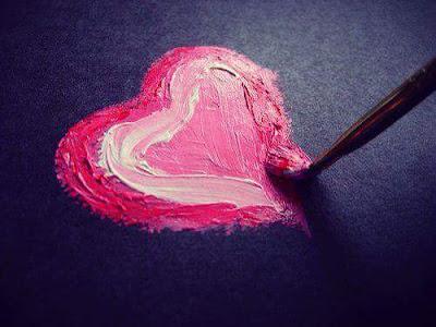 coeur peinture