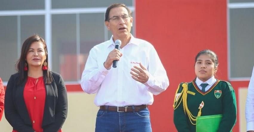 Con buena educación vamos a desterrar la corrupción, sostuvo el Presidente Martín Vizcarra