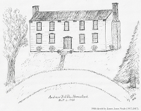 Sketch of Tribble Home by James Jones Neale.