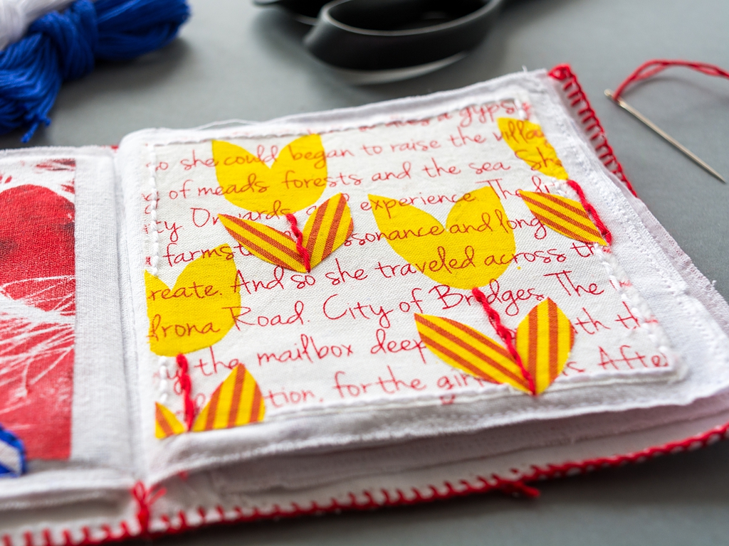Printing With Gelli Arts Create A Fabric Book With The Gelli