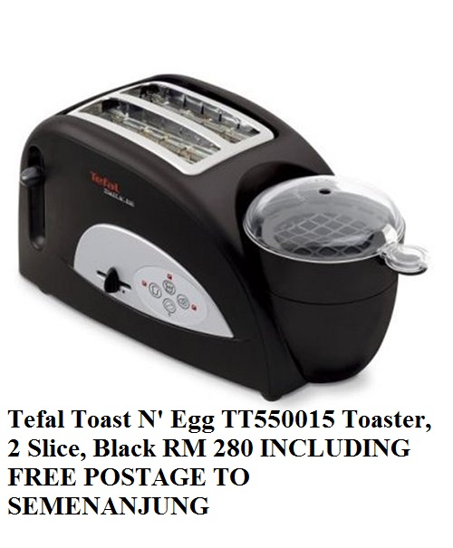 Safiya S Outlet Shop Tefal Toast N Egg Toaster 2 Slice