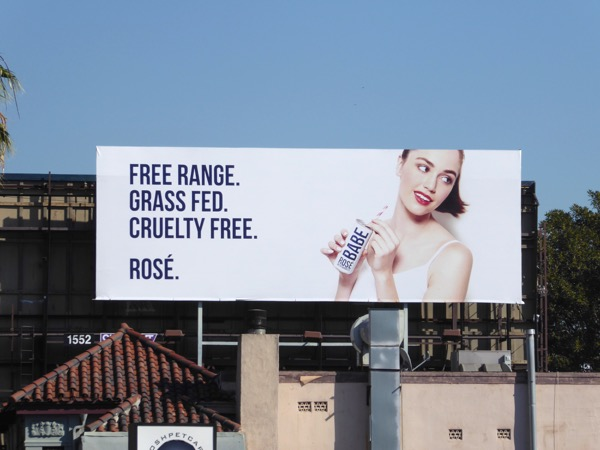 Rosé Babe Free range Grass fed billboard
