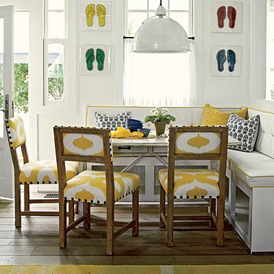yellow decor in kitchen