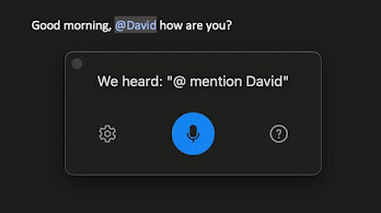 You can now use your voice to send email and @mention people in Outlook client