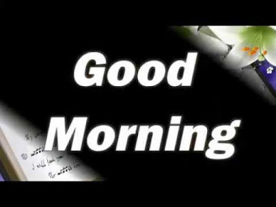 Good Morning Text on Black Book Background Image Whatsapp