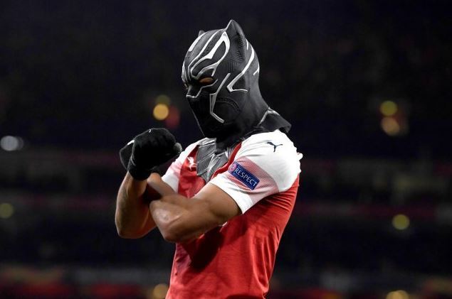 Aubameyang reveals why he celebrated against Rennes with Black Panther mask (DETAILS)