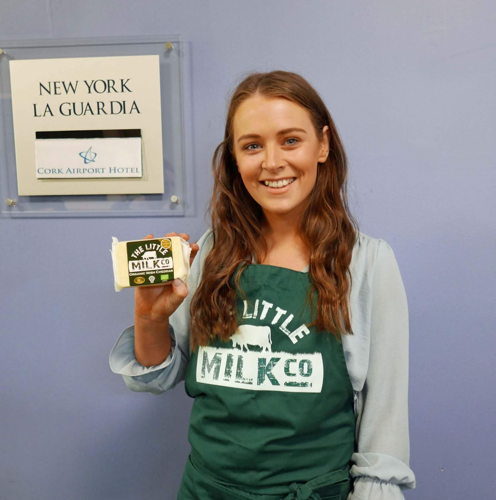 The Little Milk Company also had a beautiful Mild Organic Irish Cheddar.  Jessica told me it is flying in Germany and Denmark and should be on the  home ... 81cd40170602