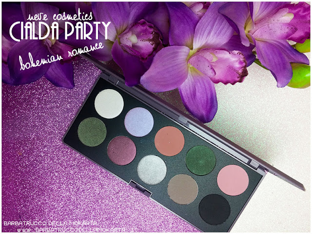 bohemian romance neve cosmetics cialda party review recensione makeup ombretti