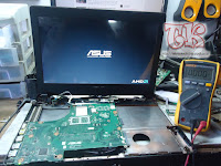 Turtorial tips service laptop asus X452E mati total