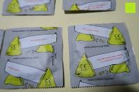 Sprüche: GEHEIM - einhorn Kondom JAHRESVORRAT - NEUTRAL Versand - 7 Packungen Kondome a 7 Stück (49) vegan, design, hormon frei, echte Gefühle, feucht, 100% geprüft