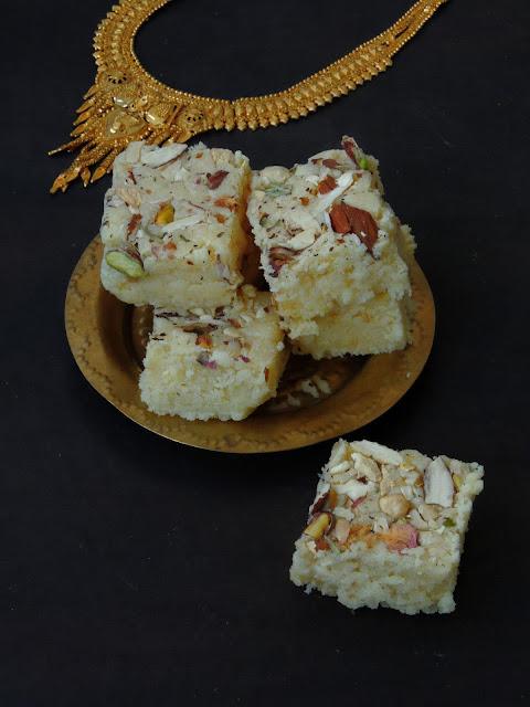Mawa Coconut Burfi