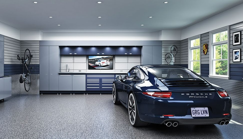 Luxury Car Garage Parking Space In High Tech Homes