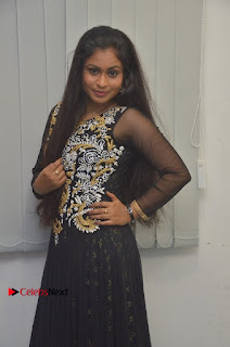 Tamil Actress Shreya Sri Stills in Black Akarkali Dress at Vanga Vanga Team Interview  0009.jpg