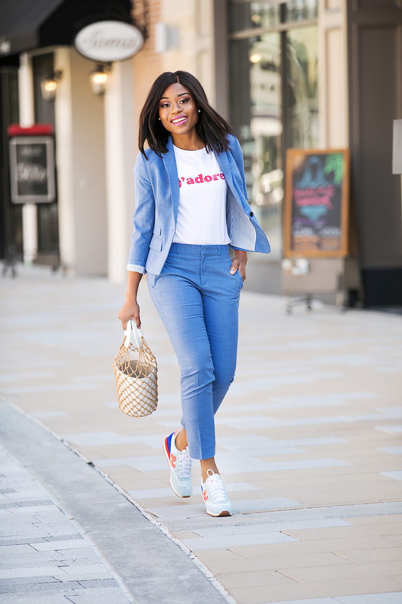 How To Style Sneakers For Work, www.jadore-fashion.com