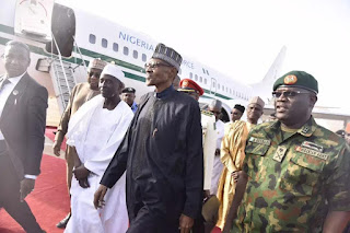 BREAKING NEWS: President Buhari Is Back To Nigeria In Airforce One 2