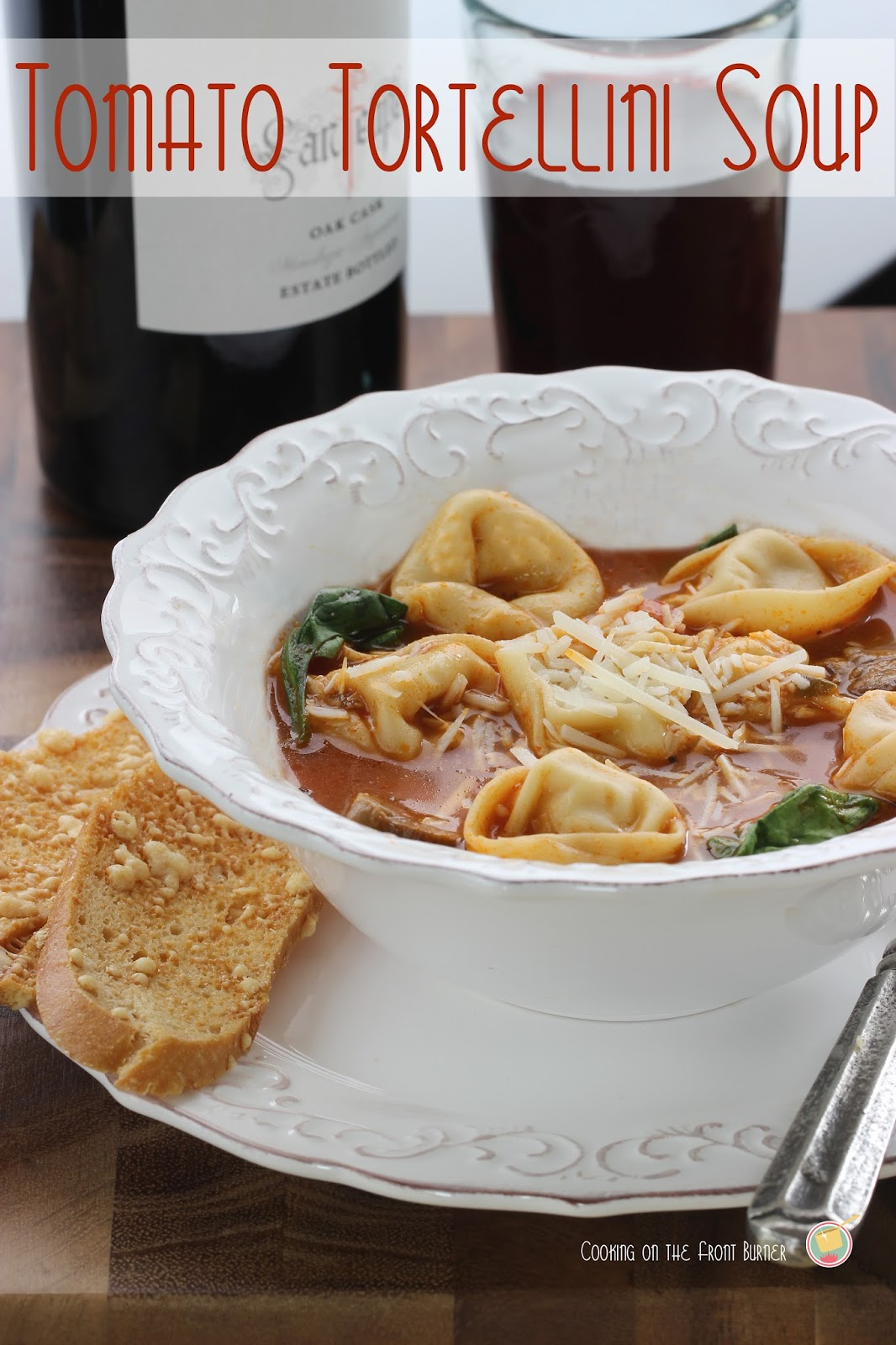 Tomato Tortellini Soup | Cooking on the Front Burner #soup