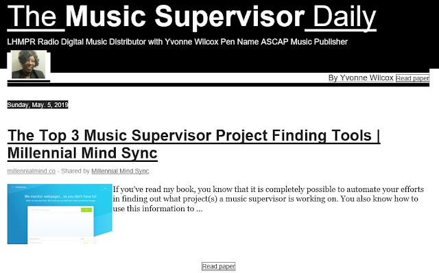 The Music Supervisor Daily is out! Edition of 05 May 2019
