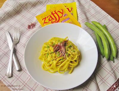 Bucatini con Salsa alla Prescinseua e Zafferano