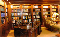 library traditional study decorating wallpapers