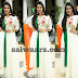 Jenny Honey in White Salwar