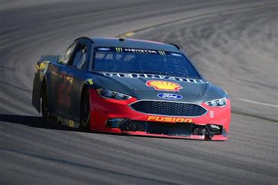 Joey Logano during a NASCAR testing in Avondale, Arizona