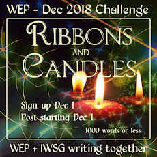 WEP CHALLENGE FOR DECEMBER - RIBBONS AND CANDLES 2018