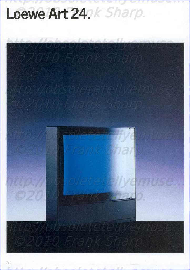 obsolete technology tellye loewe art s 24 year 1988. Black Bedroom Furniture Sets. Home Design Ideas
