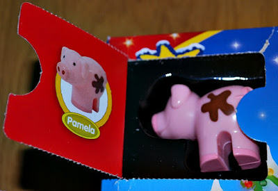 Picture of a pig toy and window with the name Pamela