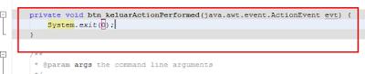 23 - Tutorial 4 Pemrograman Java Netbeans  – Disain Form Dengan Tombol Hapus Dan Tombol Keluar