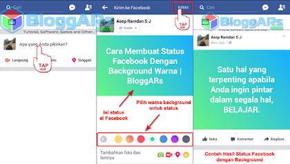 Tahap Membuat Status Facebook Dengan Background Warna