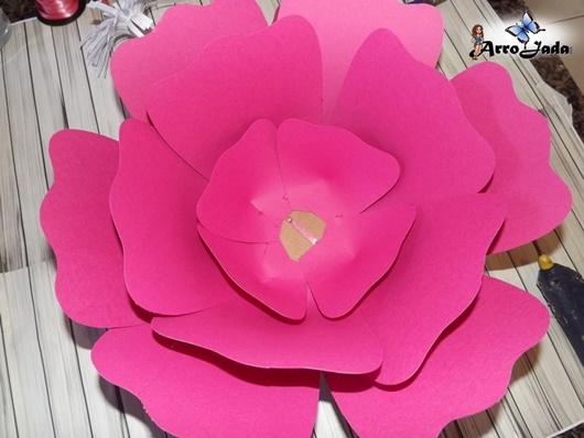 Como montar Flores gigantes de papel
