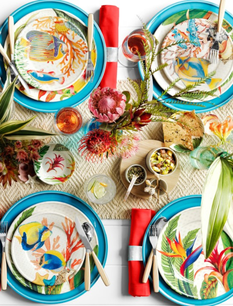 Hawaii Fish Ocean Dinnerware Outdoor