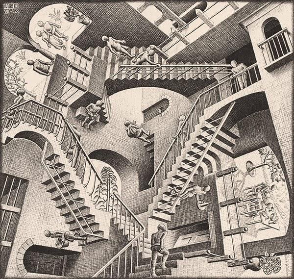 Relatividade - Escher, M. C. e suas geniais litogravuras
