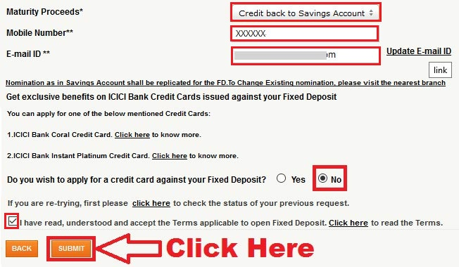 how to open fixed deposit in icici bank