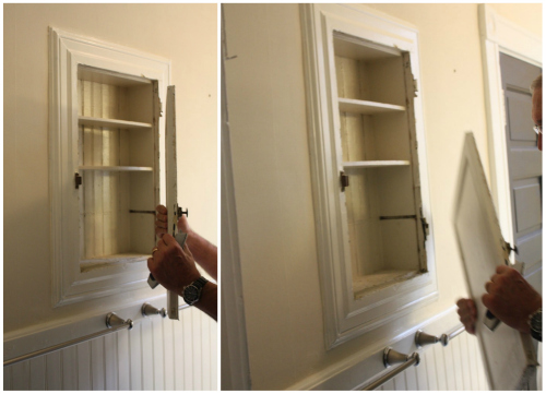 Opening The Painted Shut Medicine Cabinet 17 Apart
