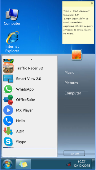 Win7imulator fo Android