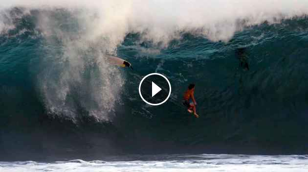 Crashes and Burns Wipeouts at Silverbacks Teahupoo and Pipe