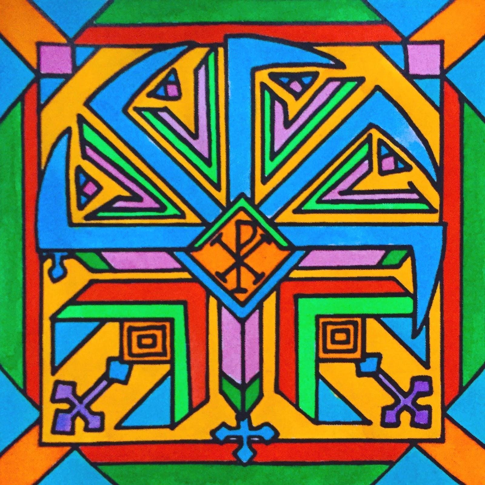 Slovanský ornament (symbol projektu; autor: Jan Hachran)