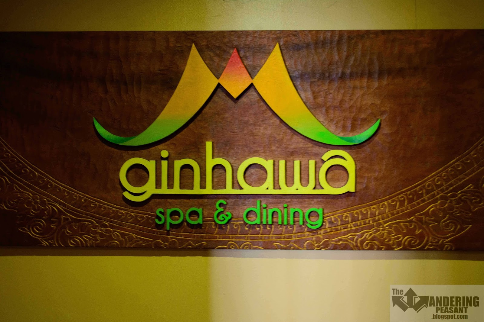 The Wandering Peasant: Ginhawa Spa and Dining: Relaxing