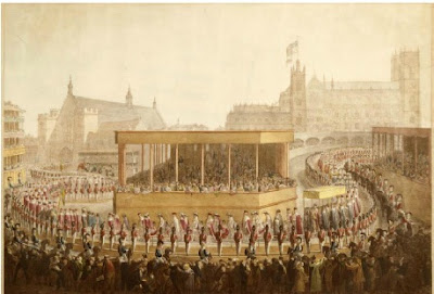Painting of the Coronation Procession by George Scharf,