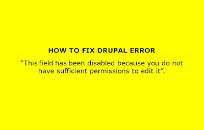 This field has been disabled because you do not have sufficient permissions to edit it