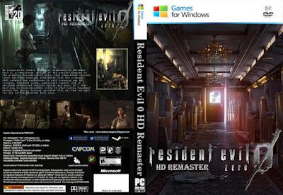 Jogo Resident Evil 0 HD Remaster PC DVD Capa