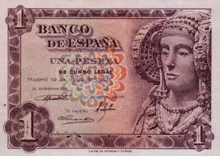 Billete de una peseta de 1948