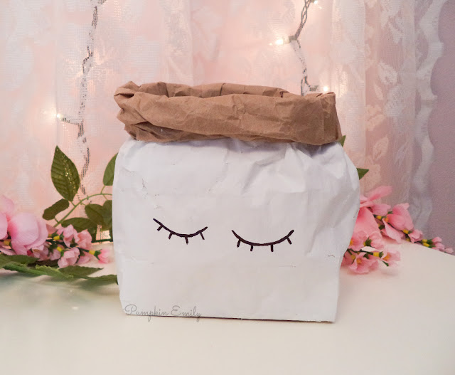 DIY Paper Bag Trash Can
