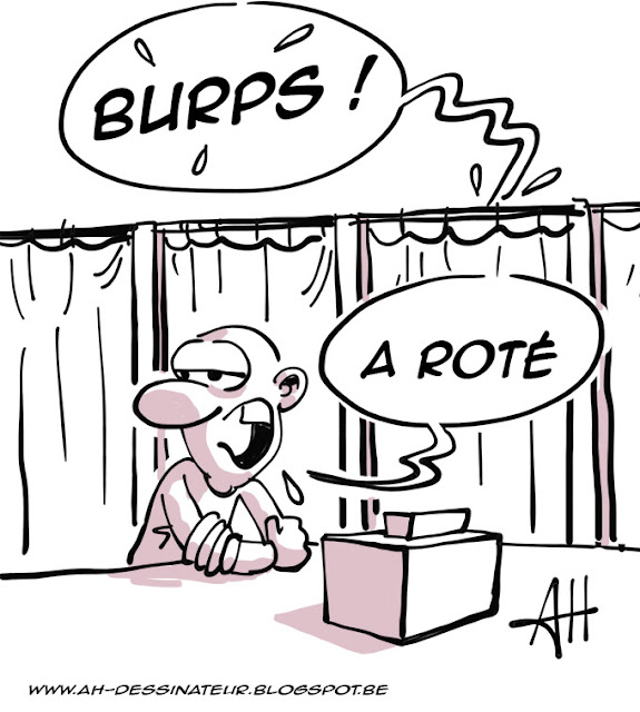 Primaire à gauche, Valls, Hamon, dessin