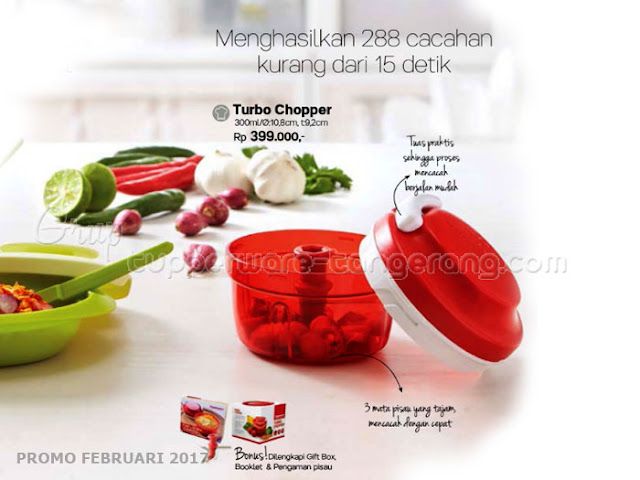 Turbo Chopper Tupperware Promo Februari 2017